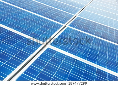 Panel for photovoltaic power generatio - stock photo