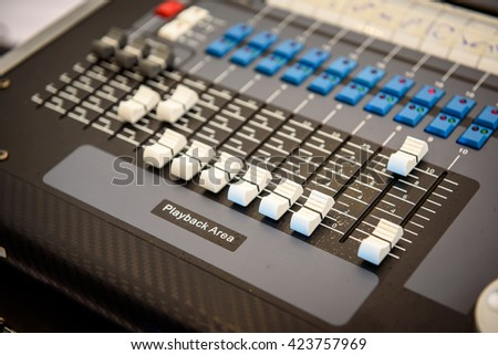panel lighting control  on stage