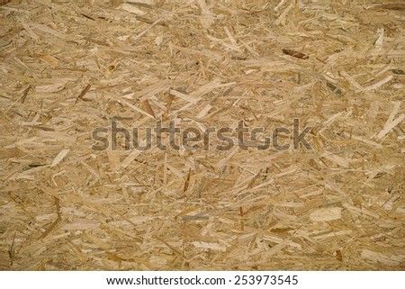 panel made with wood slivers glued - stock photo