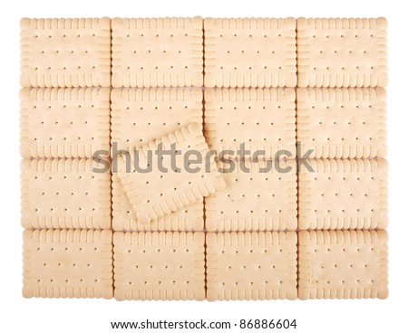 Panel of several tasty  crackers