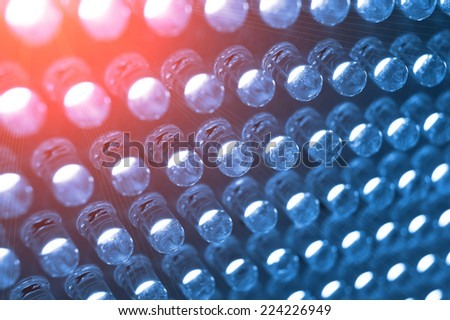 Panel with the LED bulb - stock photo