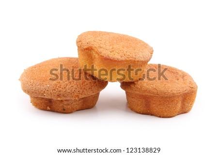 Panettone - cake for the Holidays , Christmas cake , isolated on white background - stock photo