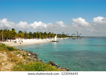 Pangane Beach, Mozambique - stock photo