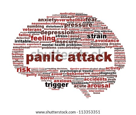 Panic attack icon design isolated on white. Mental health disorder symbol concept - stock photo