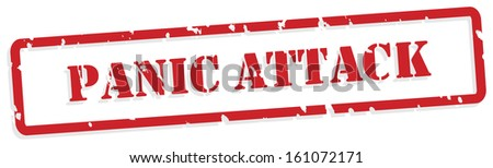 Panic attack red rubber stamp for mental health concept - stock photo