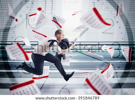 Panic deadlines - stock photo