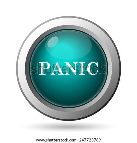 Panic icon. Internet button on white background.  - stock photo