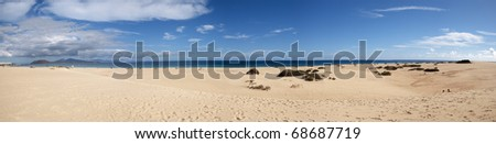 Panorámica de playa - stock photo
