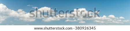 Panorama blue sky background - stock photo