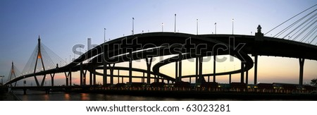 Panorama bridge in Thailand - stock photo