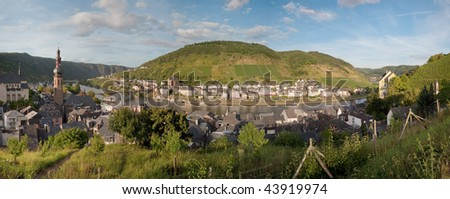 Panorama Cochem (Germany) - stock photo
