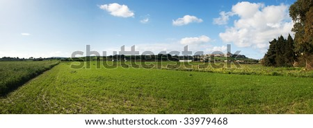 Panorama: Country panorama of Malta - stock photo