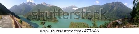 Panorama Diablo Lake - stock photo