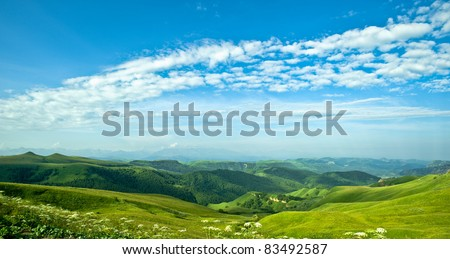 Panorama Fantastic valley - stock photo