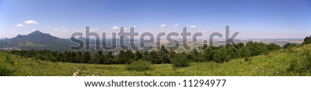 Panorama from Mashuk - stock photo