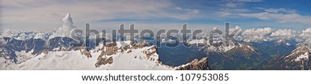 Panorama from the Zugspitz, Germany's highest mountain