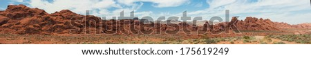 Panorama from Valley of Fire State Park in Nevada. - stock photo