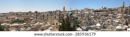 Panorama Jerusalem - stock photo