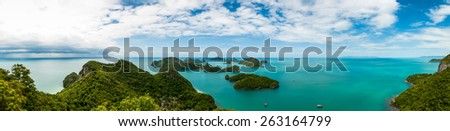 Panorama Koh Samui View point of Ang Thong Islands national park ,Thailand