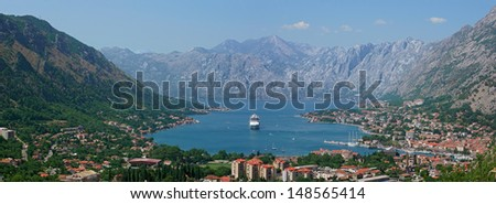 Panorama  - Kotor bay in the Montenegro
