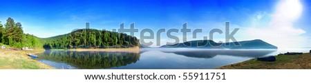Panorama krasnoyarsk sea - stock photo