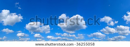 panorama. Landscape clouds and sky - stock photo