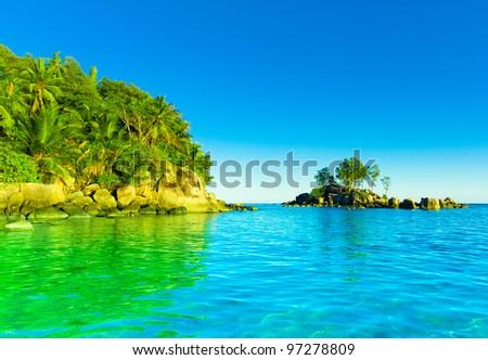 Panorama Landscape Summertime - stock photo