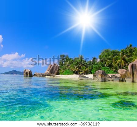 Panorama Landscape Sunshine Getaway - stock photo