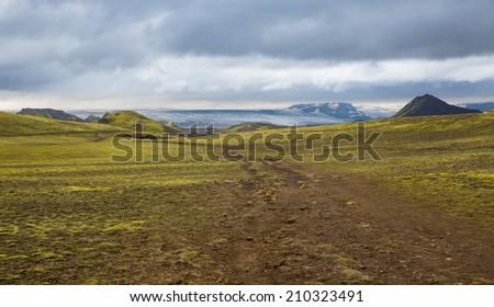 Panorama Mountain National Park Tosmork. Iceland. - stock photo