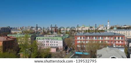 Panorama of a Moscow city