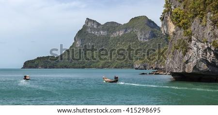Panorama of Angthong national marine park. Thailand - stock photo