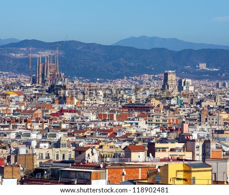 Panorama of Barcelona from Montjuic