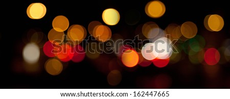 panorama of blurred lights abstract  background - stock photo