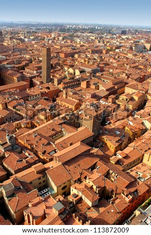 Panorama of Bologna, Italy - stock photo
