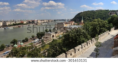 Panorama of Budapest - stock photo