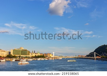 panorama of Budapest Hungary.  - stock photo