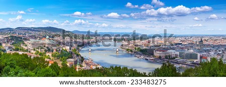 Panorama of Budapest - the capital of Hungary - stock photo