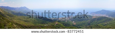 Panorama of Budva and Becici in Montenegro