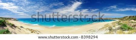 Panorama Of Butlers Beach, South Australia - stock photo