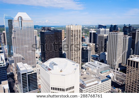 Panorama of Calgary. Calgary, Alberta, Canada - stock photo