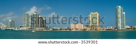 panorama of departments in Miami - stock photo