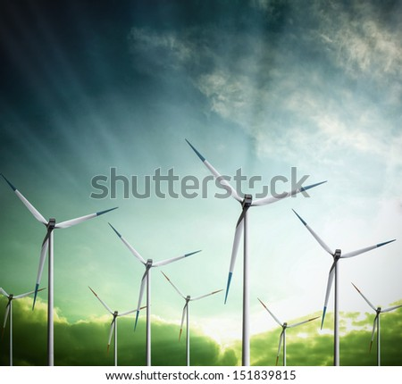 Panorama of Energy - stock photo