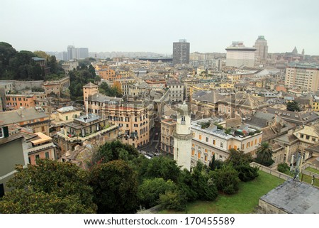 Panorama of Genoa, Italy