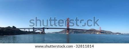Panorama of Golden Gate Bridge in San Francisco. - stock photo
