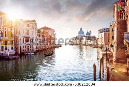 stock photo panorama of grand canal in venice italy 538212604 - Каталог — Фотообои «Венеция»