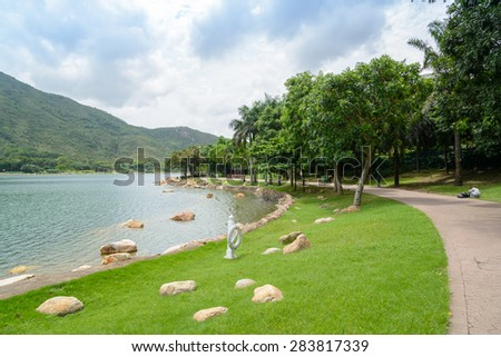 Panorama of Inspiration Lake in Hong Kong