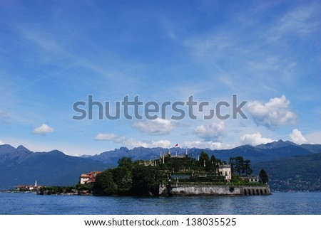 Panorama of Isola Bella, Borromean Island on Maggiore lake, Stresa, Italy - stock photo