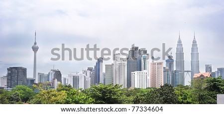Panorama of Kuala Lumpur. Malasia - stock photo