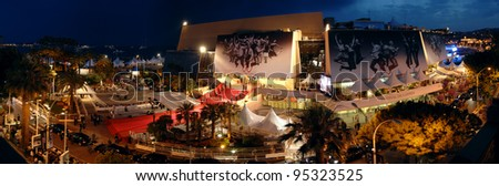 Panorama of Le Palais des Festivals during the 60th Annual International Film Festival de Cannes. May 25, 2007  Cannes, France.  2007 Paul Smith / Featureflash - stock photo