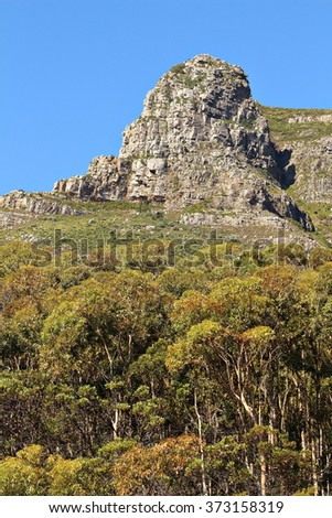 Panorama of Lions Head, Cape Town, South Africa. - stock photo